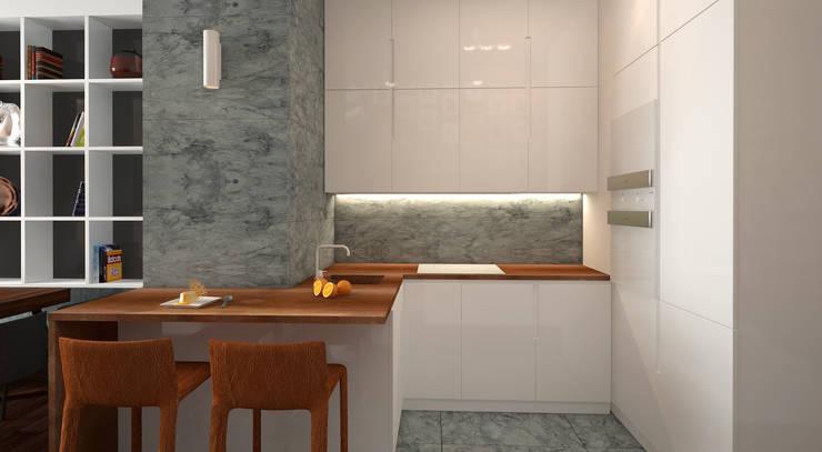 Qbik: styl , w kategorii Kuchnia zaprojektowany przez FAMM DESIGN