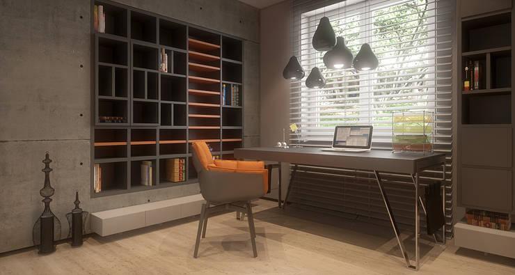 Męska rzecz: styl , w kategorii Domowe biuro i gabinet zaprojektowany przez FAMM DESIGN