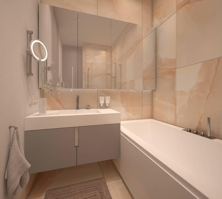 Qbik: styl , w kategorii Łazienka zaprojektowany przez FAMM DESIGN