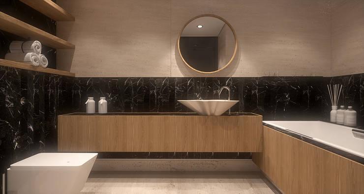 Męska rzecz: styl , w kategorii Łazienka zaprojektowany przez FAMM DESIGN