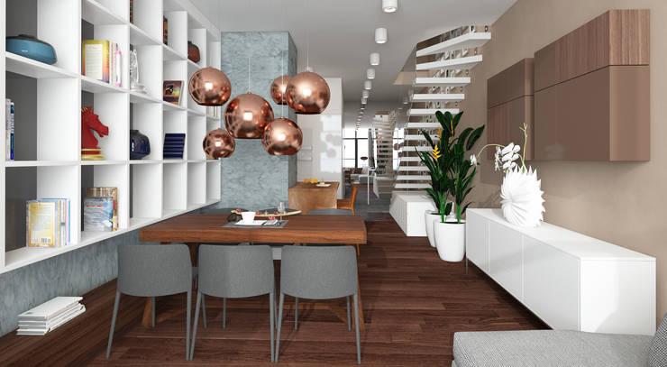Qbik: styl , w kategorii Jadalnia zaprojektowany przez FAMM DESIGN