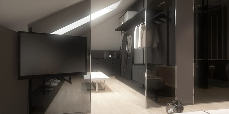 Vestidores y closets de estilo  por FAMM DESIGN