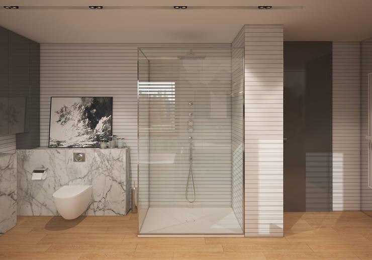 Dom w Puławach: styl , w kategorii Łazienka zaprojektowany przez FAMM DESIGN