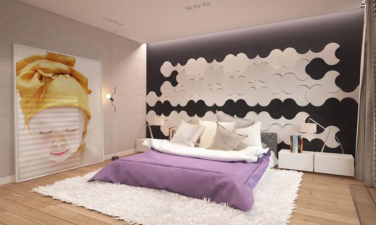 Dom w Puławach: styl , w kategorii Sypialnia zaprojektowany przez FAMM DESIGN