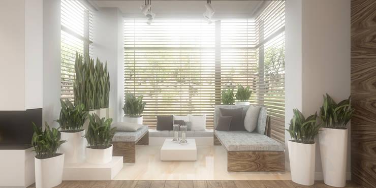 Jardines de invierno de estilo minimalista por FAMM DESIGN