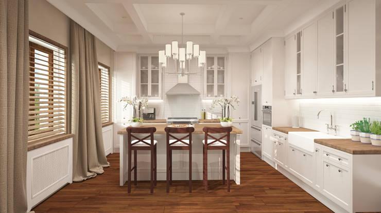 Łowicz po amerykańsku: styl , w kategorii Kuchnia zaprojektowany przez FAMM DESIGN