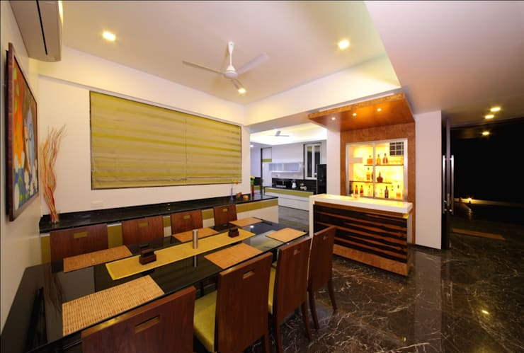 modern Dining room by GreenLounge