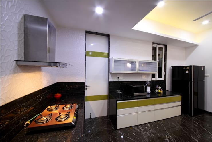 SKI Villa @ Aamby Valley, Lonavala, Pune: modern Kitchen by GreenLounge