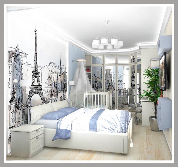 Комната для молодой семьи Вид 1: Спальни в . Автор – Рязанова Галина,