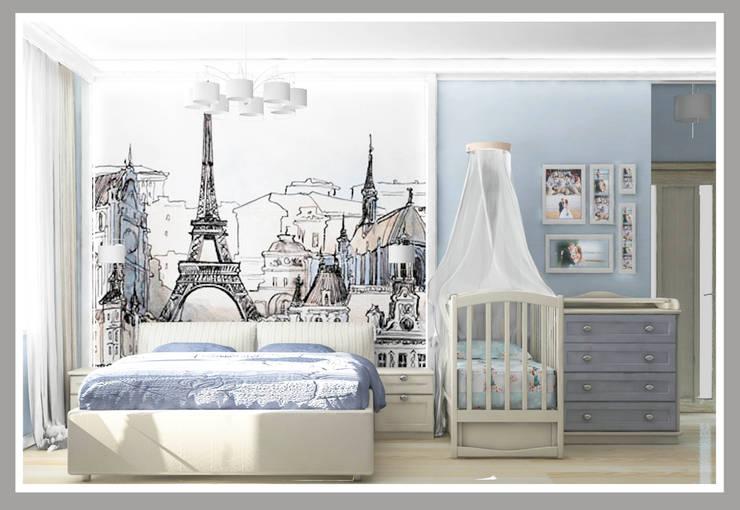 Комната для молодой семьи Вид 2: Спальни в . Автор – Рязанова Галина,