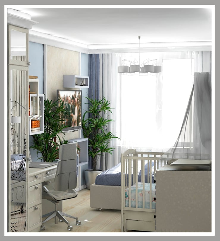 Комната для молодой семьи Вид 4: Спальни в . Автор – Рязанова Галина,