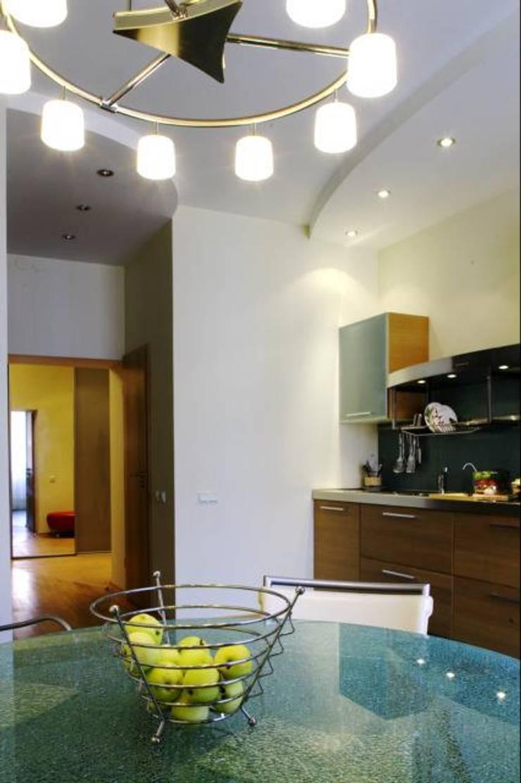 Реализованный проект интерьеров квартиры 124 кв. метра в ЖК Город солнца: Столовые комнаты в . Автор – интерьеры от частного дизайнера