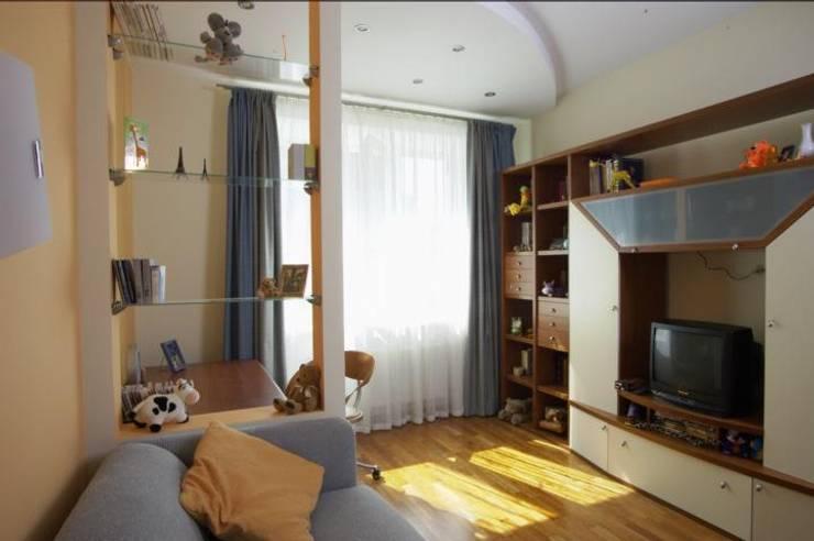 Реализованный проект интерьеров квартиры 124 кв. метра в ЖК Город солнца: Детские комнаты в . Автор – интерьеры от частного дизайнера