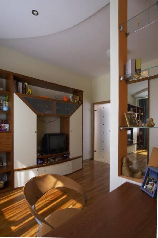 Реализованный проект интерьеров квартиры 124 кв. метра в ЖК Город солнца: Спальни для девочек в . Автор – интерьеры от частного дизайнера