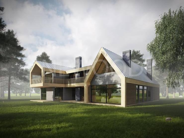 """Современный деревянный дом """"Новгород"""": Дома в . Автор – NEWOOD - Современные деревянные дома"""
