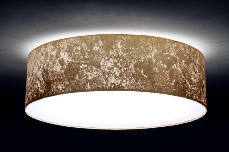 Deckenleuchte D.50 cm, Blattgold-Optik:  Wohnzimmer von Voigt Lampenschirme GmbH