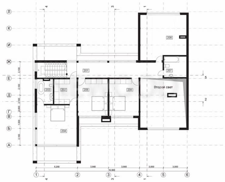 """Современный деревянный дом """"Новгород"""":  в . Автор – NEWOOD - Современные деревянные дома,"""