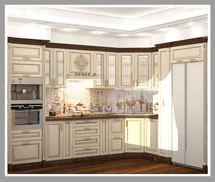Кухня Общий вид: Кухни в . Автор – Рязанова Галина