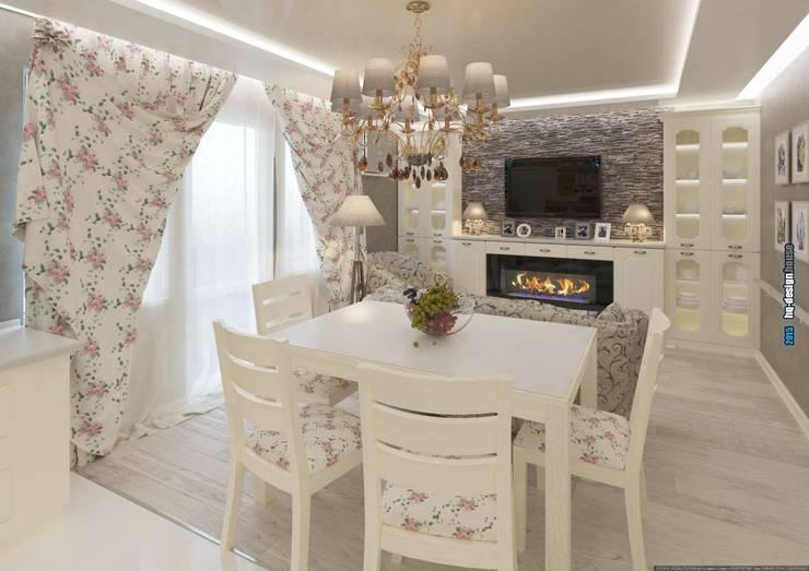 Коттедж 150 кв.м. в Энгельсе, Волжский проспект: Столовые комнаты в . Автор – hq-design,