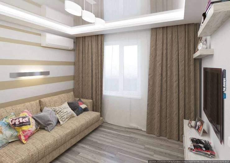 Коттедж 150 кв.м. в Энгельсе, Волжский проспект: Медиа комнаты в . Автор – hq-design,
