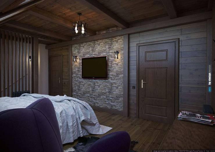 Коттедж 150 кв.м. в Энгельсе, Волжский проспект: Спальни в . Автор – hq-design
