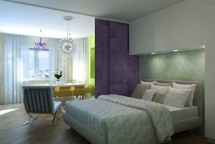 Bedroom by Design studio of Stanislav Orekhov. ARCHITECTURE / INTERIOR DESIGN / VISUALIZATION.