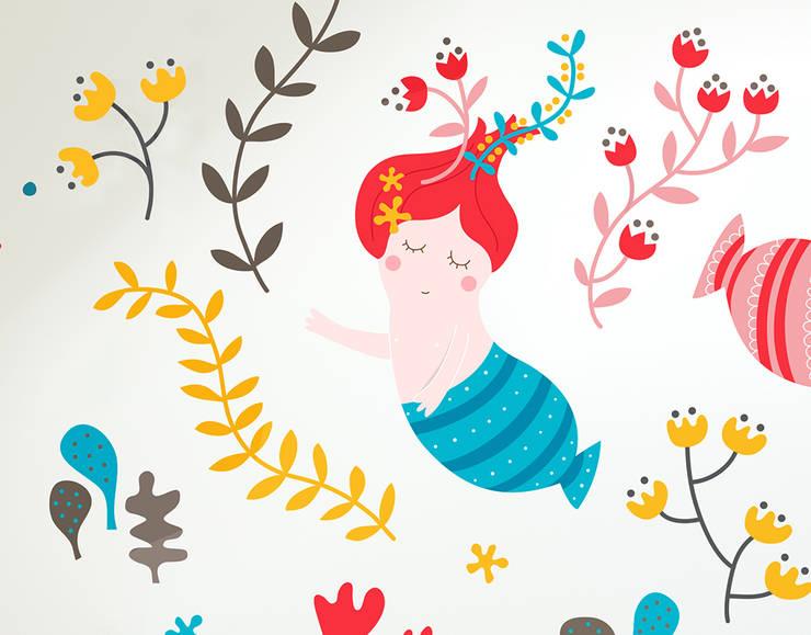 Détail du sticker Les Sirènes: Chambre d'enfants de style  par Bumoon