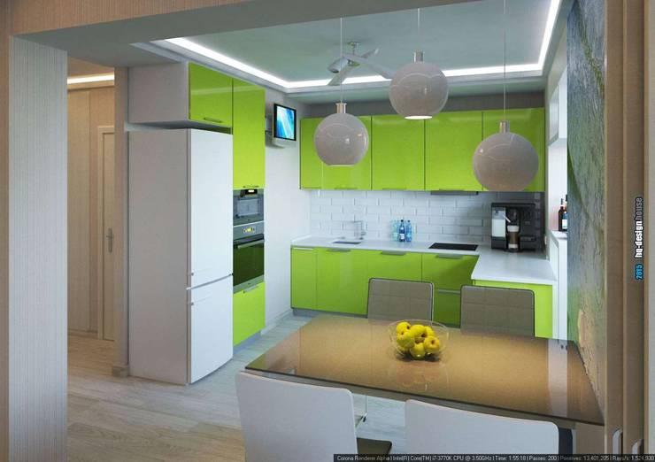 Дизайн интерьера квартиры 90кв.м в г.Саратове на ул.Шелковичной-2: Кухни в . Автор – hq-design