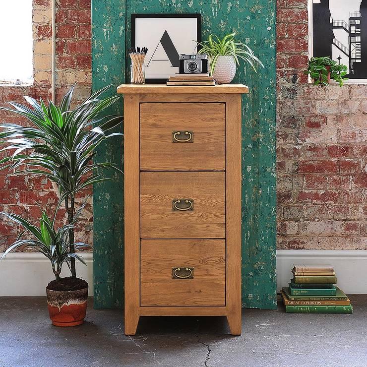 書房/辦公室 by The Cotswold Company, 鄉村風 木頭 Wood effect
