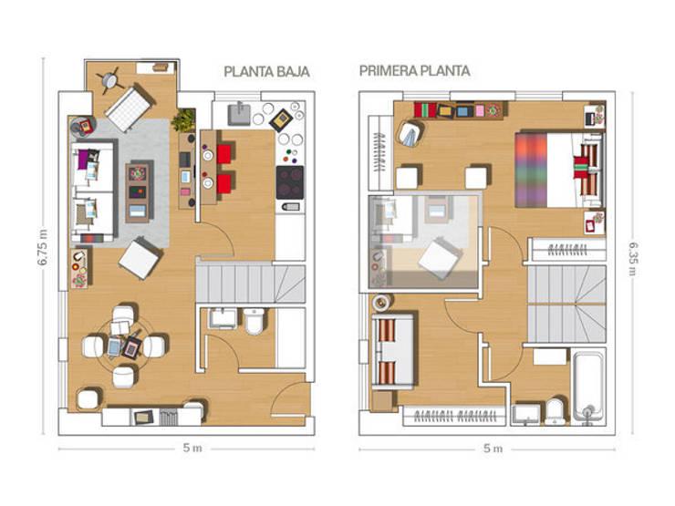 LOFT IN MADRID 2013: Casas de estilo  de BELEN FERRANDIZ INTERIOR DESIGN