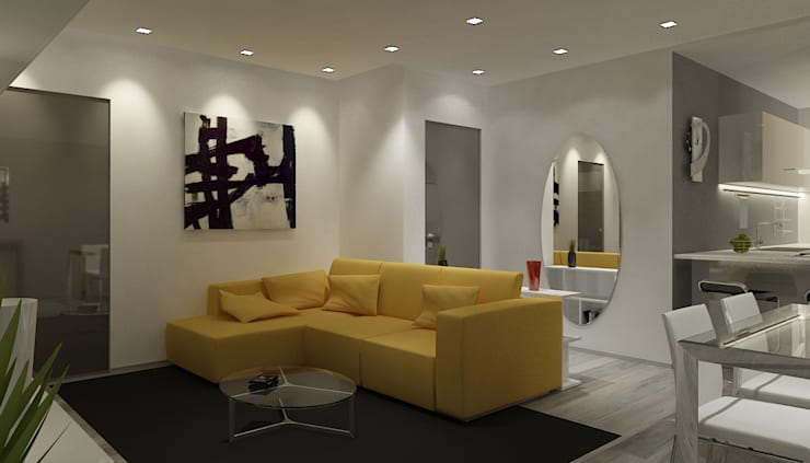 Salas de estilo  por Paolo Foglini Design