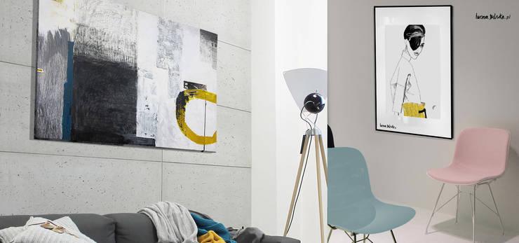 Obraz: styl , w kategorii Sztuka zaprojektowany przez Iwonabilska