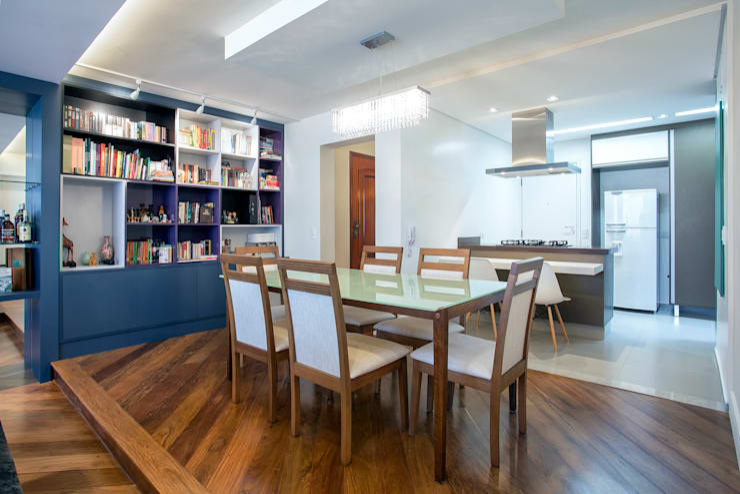 Apartamento 01: Salas de jantar  por P.B Arquitetura