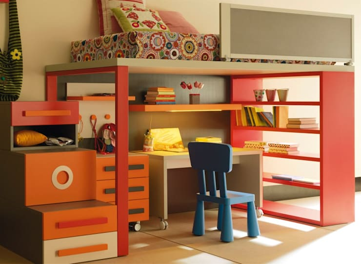 ZONA ESTUDIO: Habitaciones infantiles de estilo  de MUEBLES OYAGA