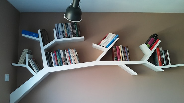 Półka gałąź 220x110x20cm: styl , w kategorii Salon zaprojektowany przez INSPIRUJĄCE PÓŁKI,
