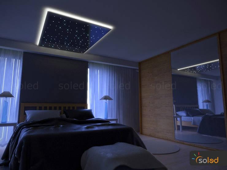 SOLED Projekty i Dekoracje Świetlne Jacek Solka의  침실