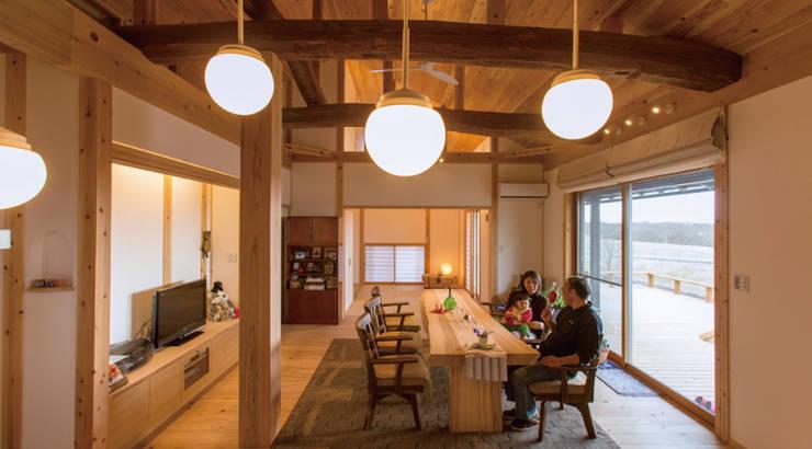 H26日本漆喰協会作品賞:受賞した家: 株式会社粋の家が手掛けたリビングです。