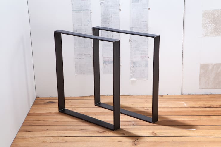 Tischbeine Beine Fur Tisch Aus Rohem Stahl By Rough And Ready Homify