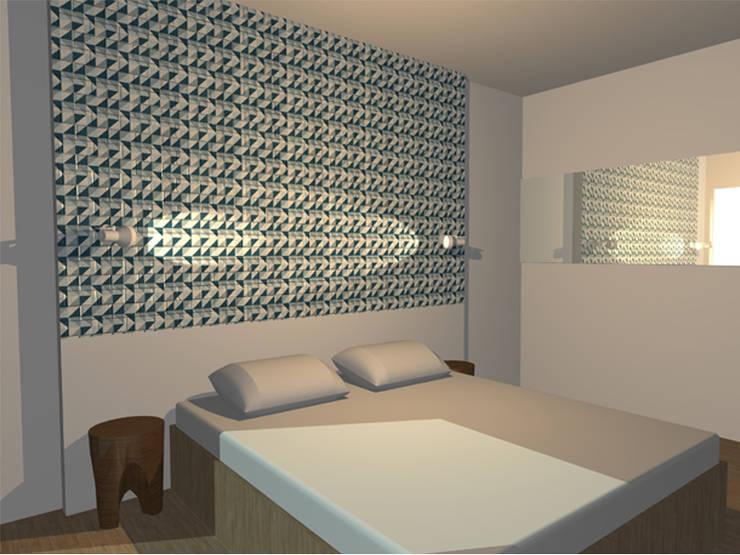 Appartement 70m2: Chambre de style  par Arnaud Bouvier Design