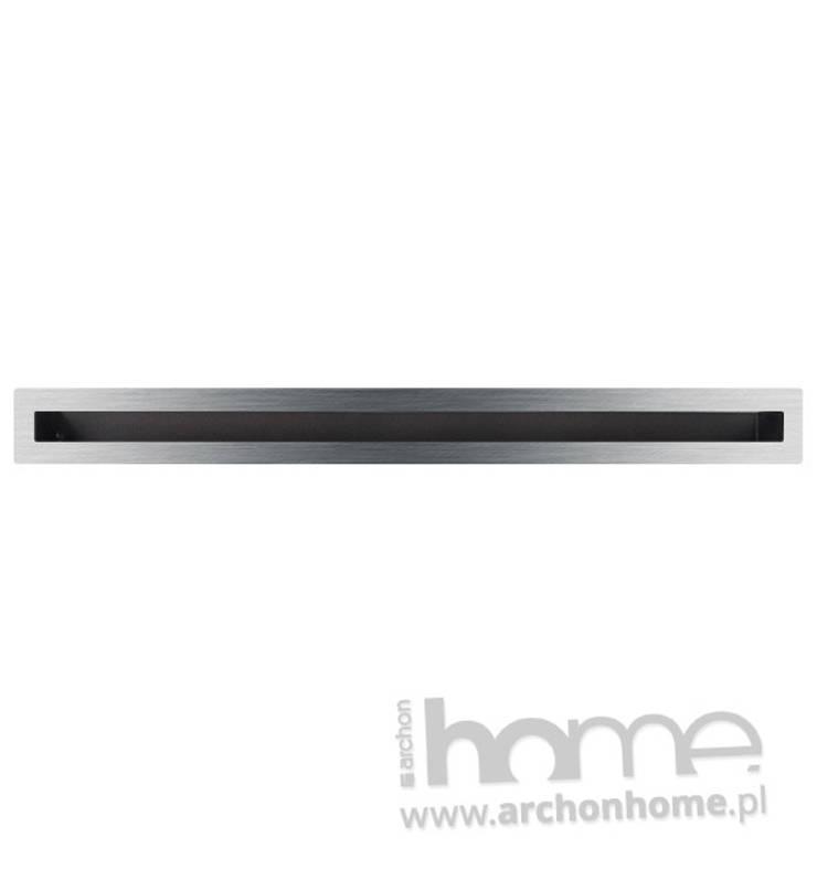 Kratka typu Luft szlifowany 6x100: styl , w kategorii Salon zaprojektowany przez ArchonHome.pl