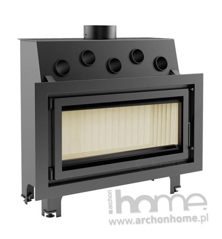 Kominek Mila 16 kW: styl , w kategorii Salon zaprojektowany przez ArchonHome.pl