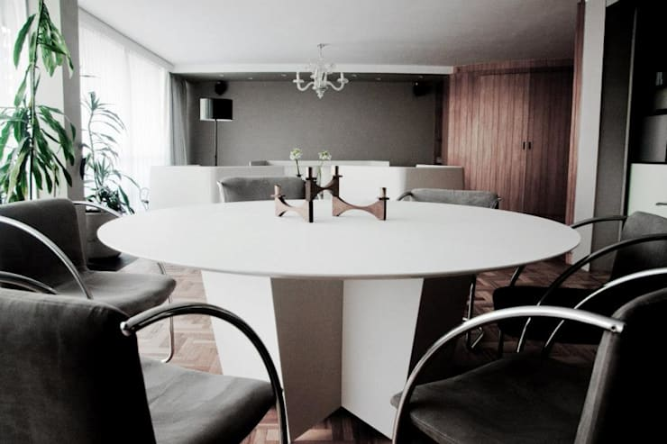 Av. México-Condesa: Comedores de estilo  por Elías Arquitectura