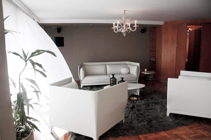 Av. México-Condesa: Salas de estilo  por Elías Arquitectura