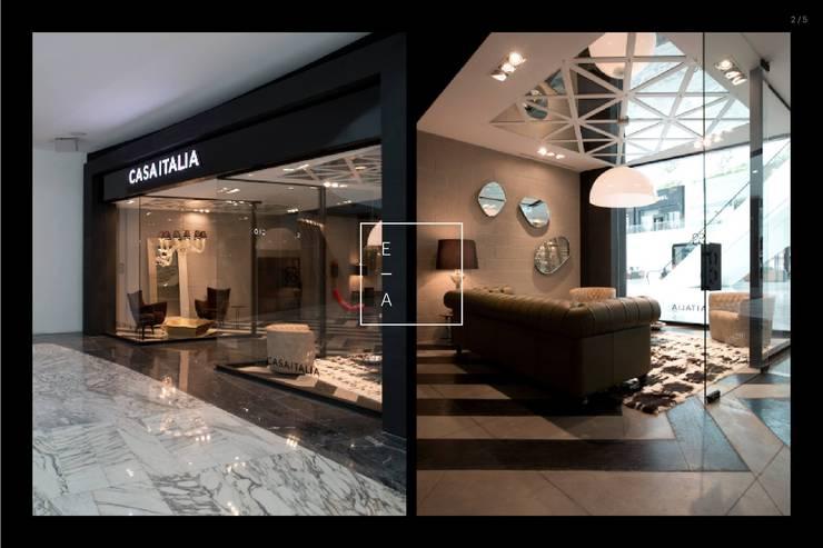 Casa Italia Boutique-Mexico City: Salas de estilo  por Elías Arquitectura