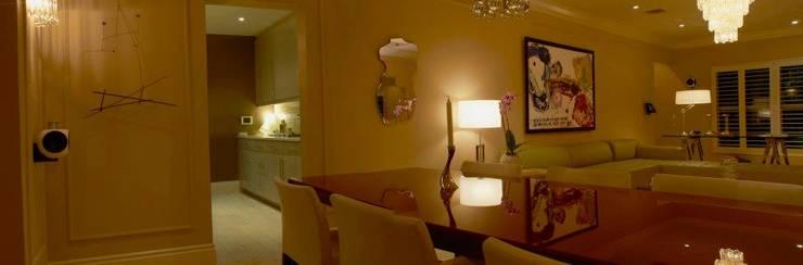 Dilido Island House-Miami: Salas de estilo  por Elías Arquitectura