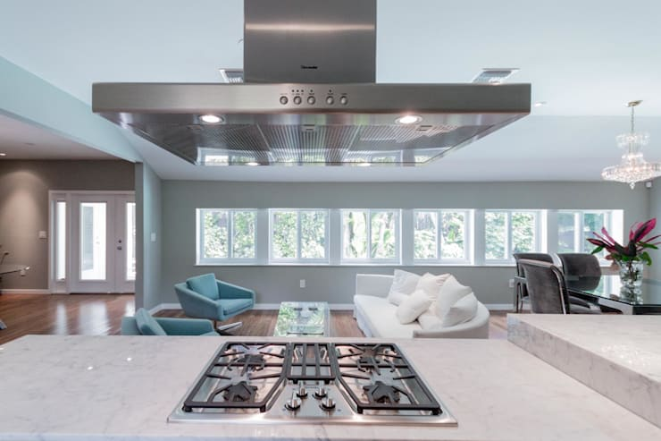 Dilido Island House-Miami 2: Cocinas de estilo  por Elías Arquitectura