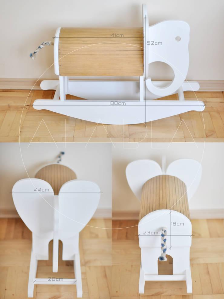 SŁOŃKOŃ zwierz na biegunach: styl , w kategorii Pokój dziecięcy zaprojektowany przez AFABLA