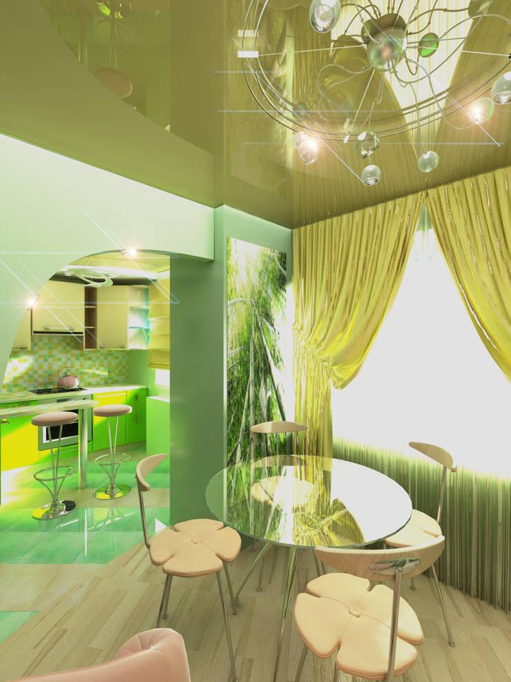 Однокомнатная квартира: Столовые комнаты в . Автор – ИП Поварова Татьяна Владимировна
