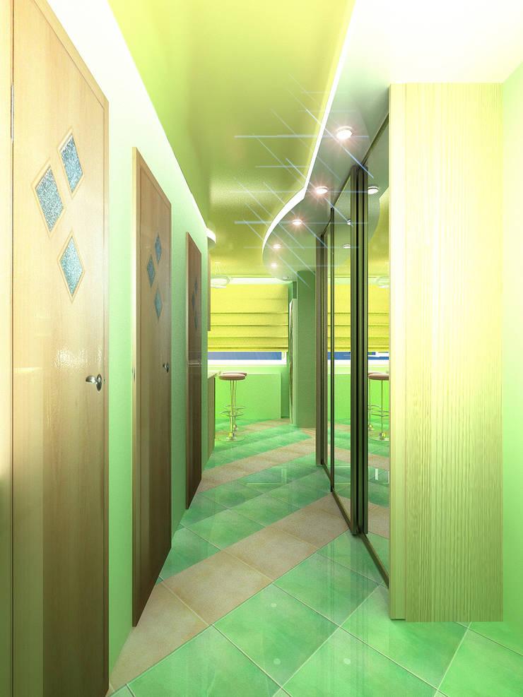 Однокомнатная квартира: Коридор и прихожая в . Автор – ИП Поварова Татьяна Владимировна
