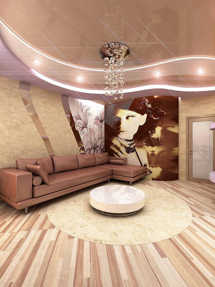 Квартира1: Гостиная в . Автор – ИП Поварова Татьяна Владимировна